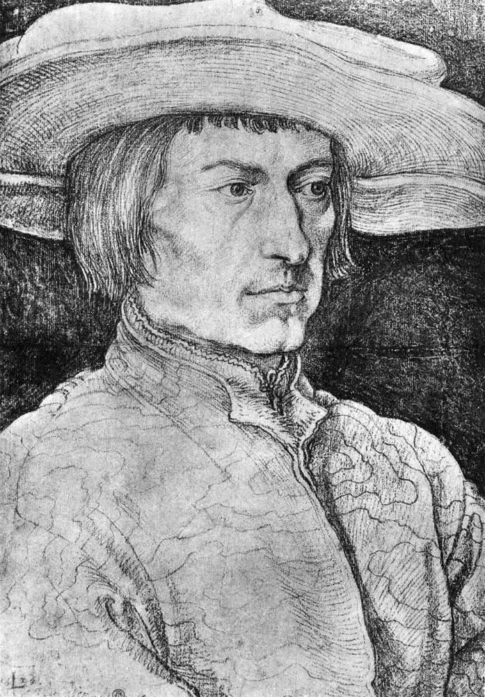 Портрет Лукаса ван Лейдена   Альбрехт Дюрер