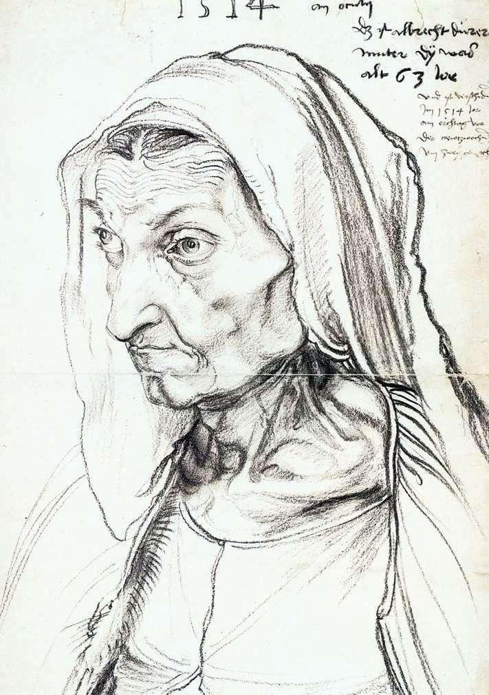 Портрет матері   Альбрехт Дюрер