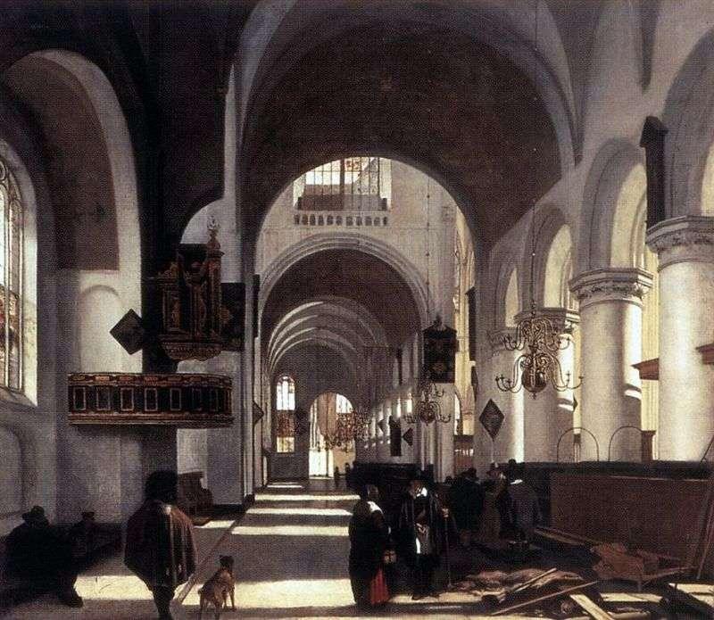 Церковний інтерєр   Емануель де Вітте