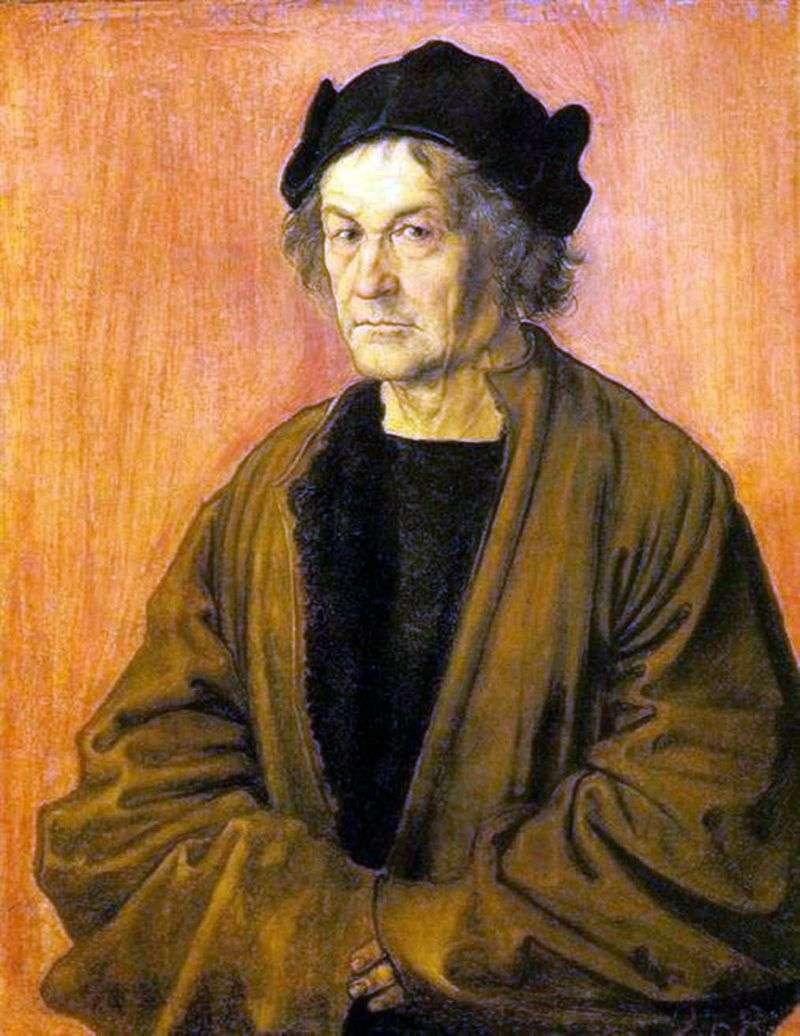 Портрет батька в 70 років   Альбрехт Дюрер