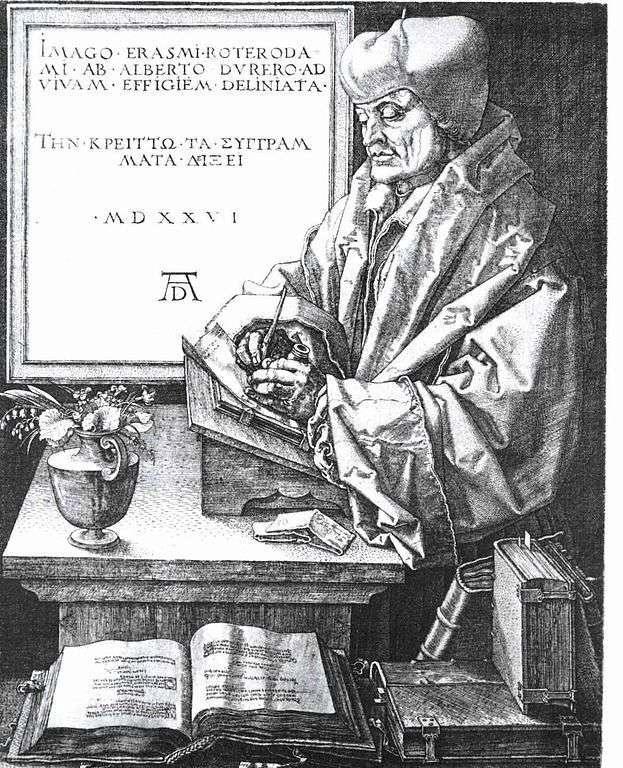 Портрет Еразма Роттердамського   Альбрехт Дюрер