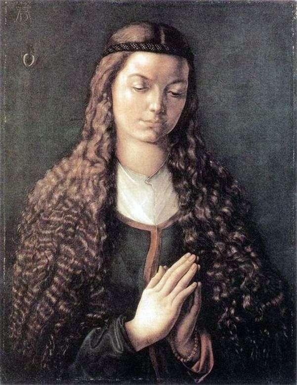 Портрет юної дівчини з розпущеним волоссям   Альбрехт Дюрер