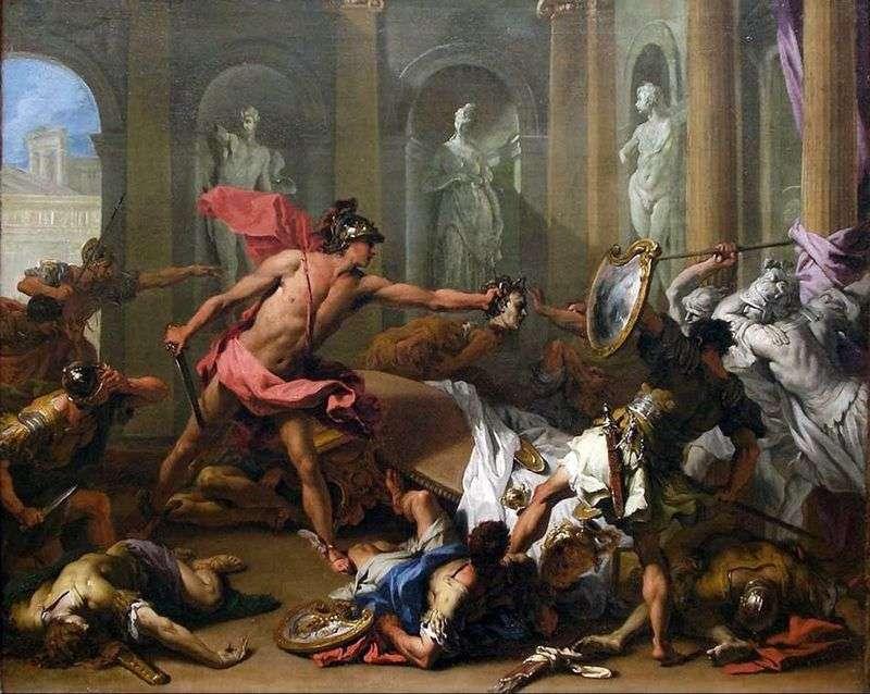Персей звертає Фінея в камінь   Себастьяно Річчі