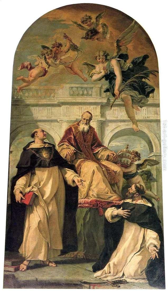 Пій V, святі Петро і Хома Аквінський   Себастьяно Річчі