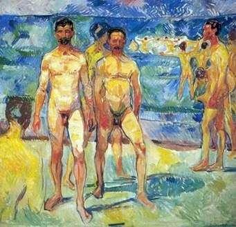 Чоловіки на пляжі   Едвард Мунк