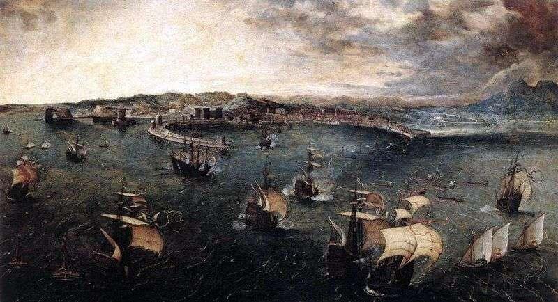Морський бій в гавані Неаполя   Пітер Брейгель
