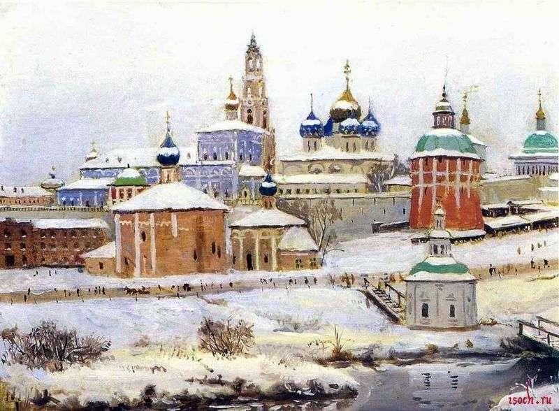 Троїце Сергієва лавра взимку   Костянтин Юон