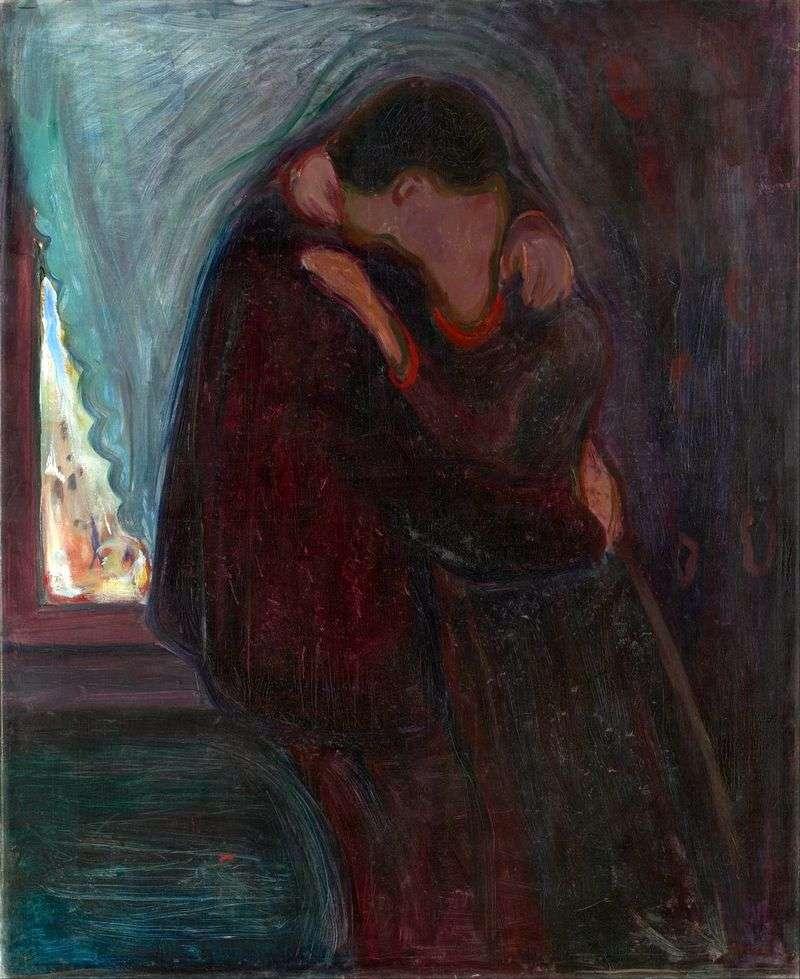 Поцілунок   Едвард Мунк
