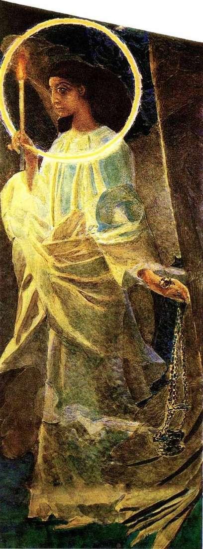 Ангел з кадилом та свічкою   Михайло Врубель