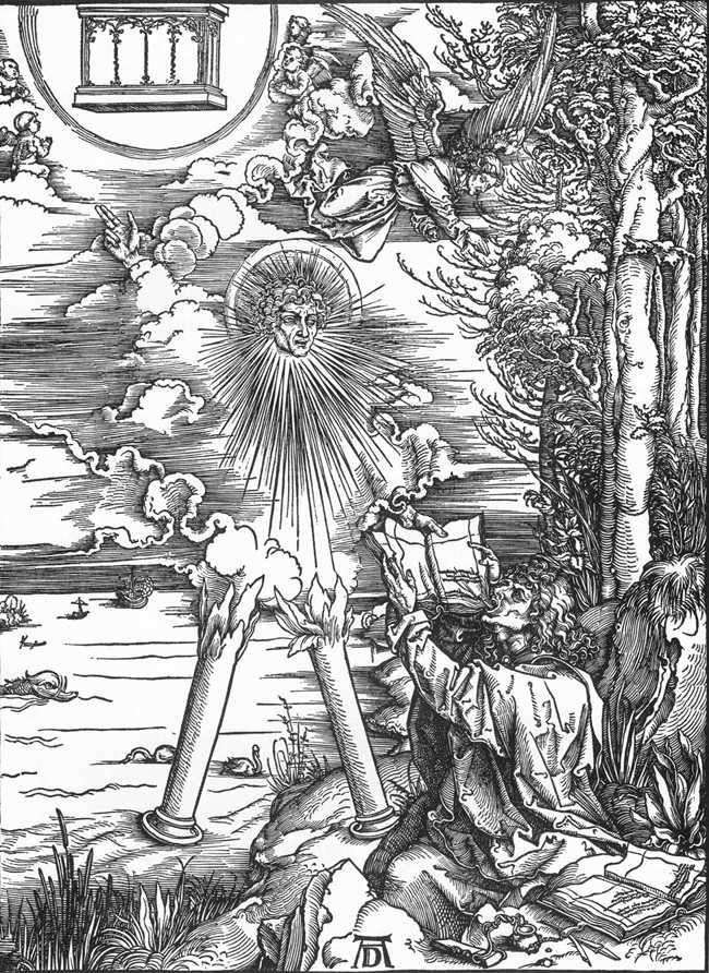 Святий Іоанн отримує книгу Одкровень   Альбрехт Дюрер