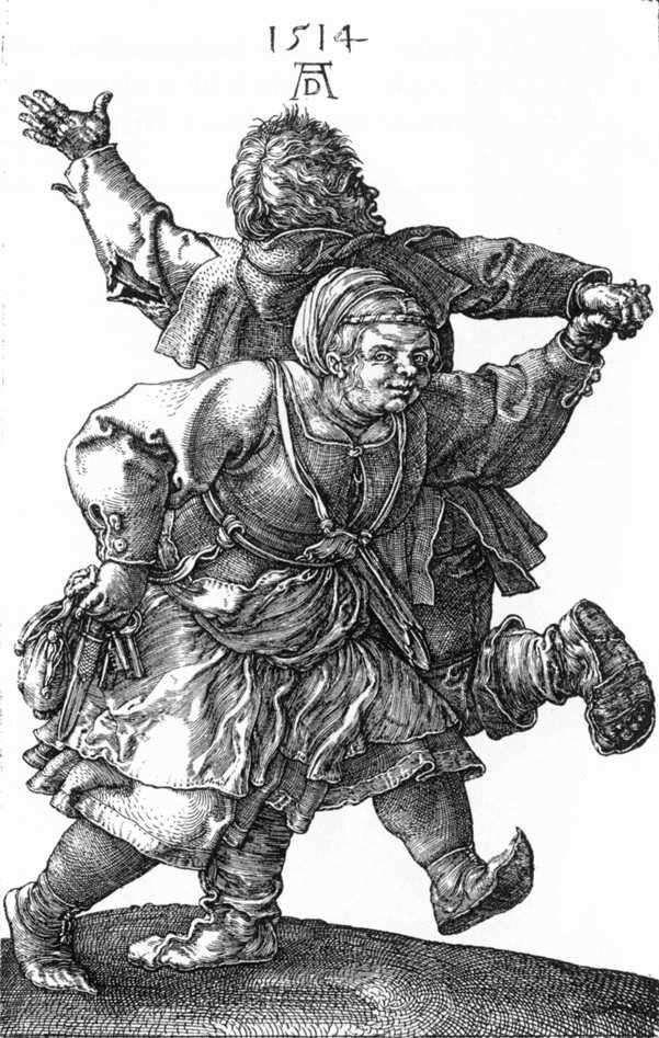 Танцюючі селяни   Альбрехт Дюрер