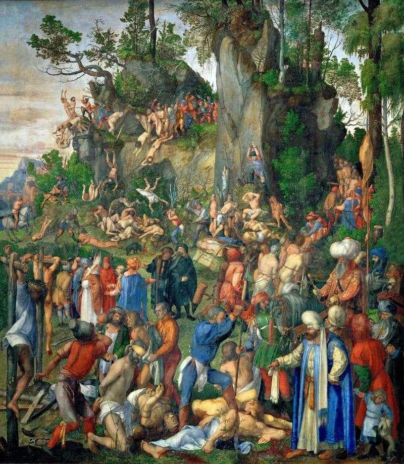 Умертвіння десяти тисяч християн   Альбрехт Дюрер