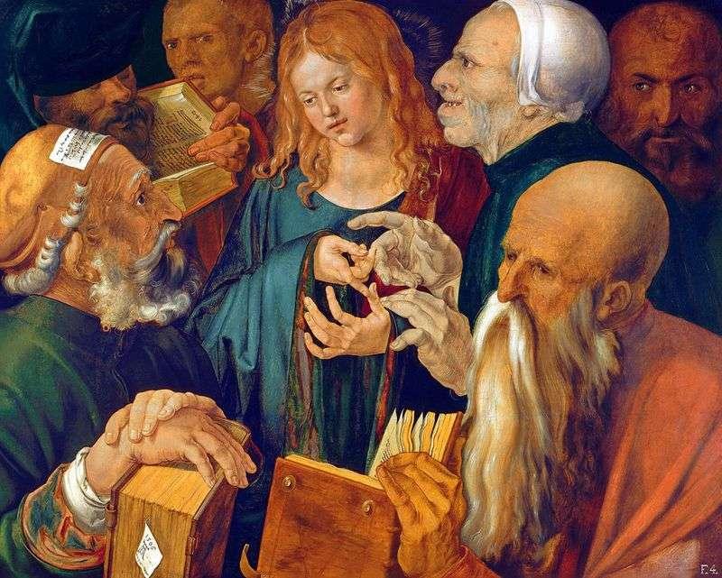 Христос серед книжників   Альбрехт Дюрер