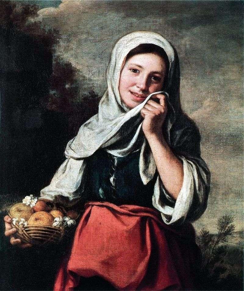 Дівчинка продавщиця фруктів   Бартоломе Естебан Мурільйо