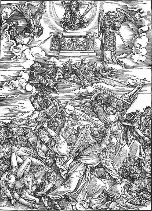 Чотири ангела Смерті   Альбрехт Дюрер