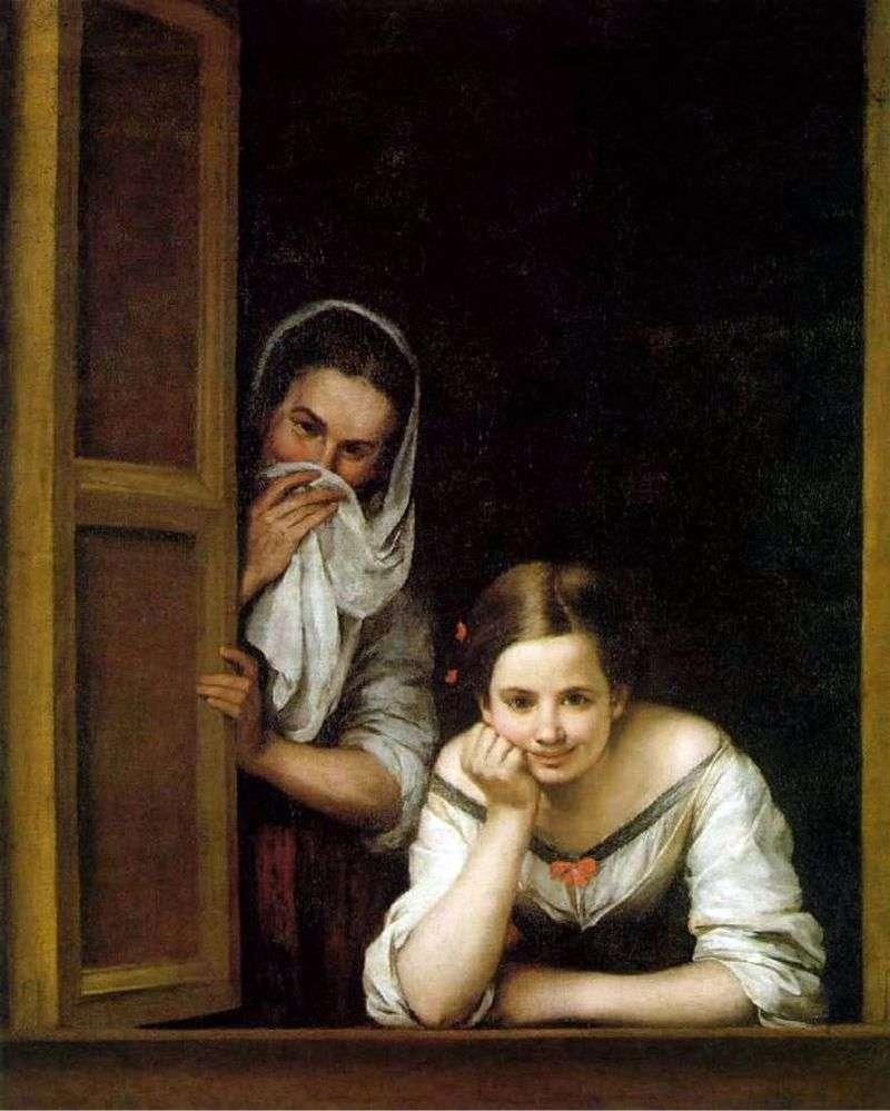 Дівчата у вікні   Бартоломе Естебан Мурільйо