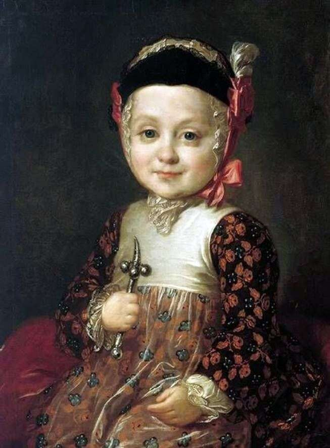Портрет А. Р. Бобринського в дитинстві   Федір Рокотов