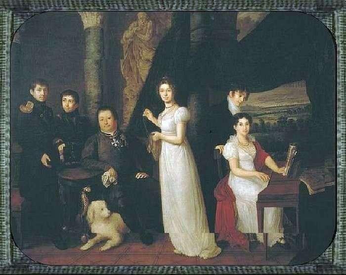 Сімейний портрет Моркових   Василь Тропінін