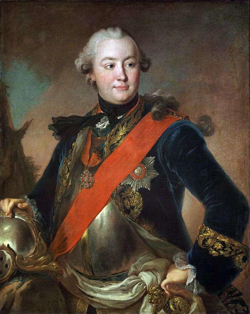 Портрет графа Р. Р. Орлова в латах   Федір Рокотов