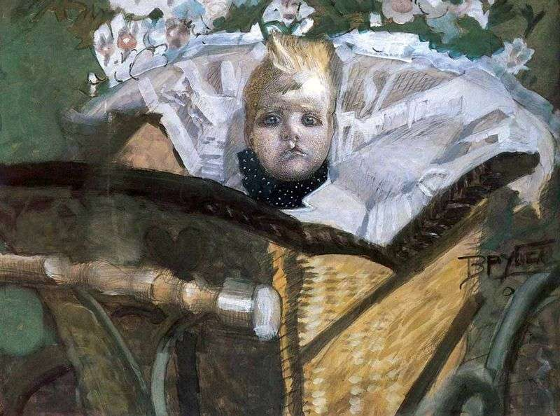 Портрет сина художника   Михайло Врубель