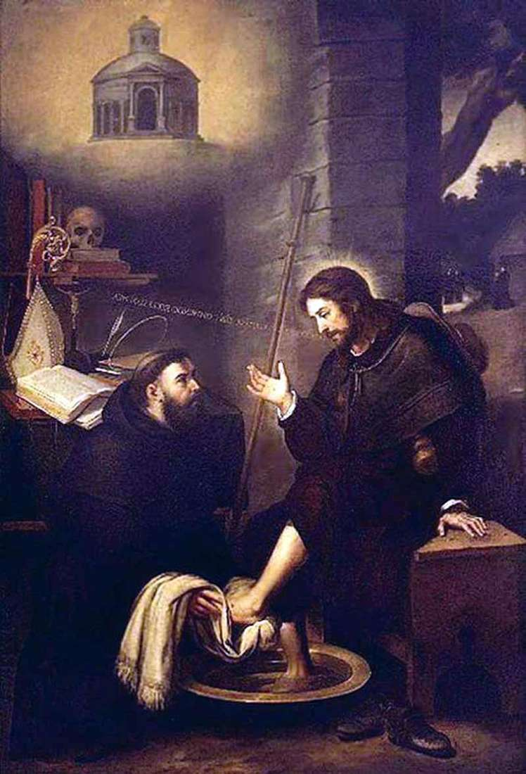 Св. Августин, миє ноги Христу   Бартоломео Естебан Мурільйо