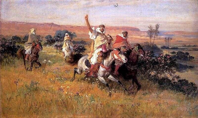 Полювання з соколом   Фредерік Артур Бридгман