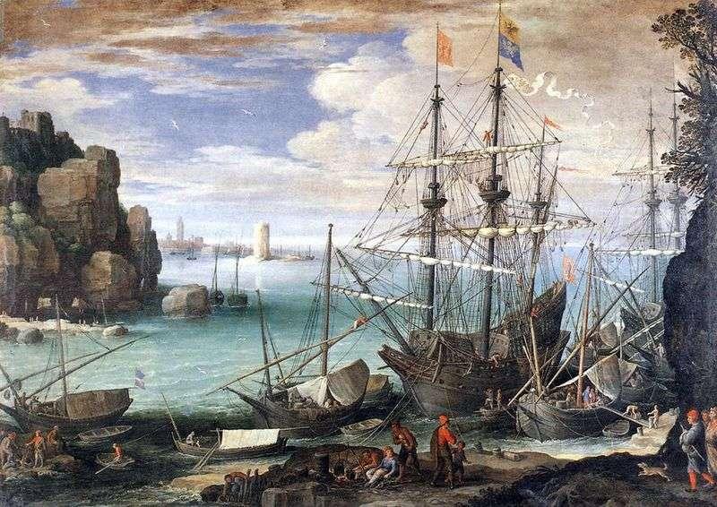 Вид порту   Пауль Бриль