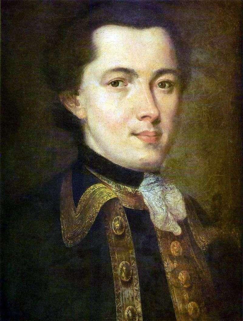 Портрет невідомого молодика в гвардійському мундирі   Федір Рокотов