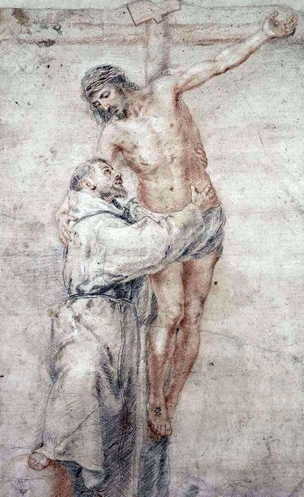 Святий Франциск, який обіймає Христа   Бартоломе Естебан Мурільйо