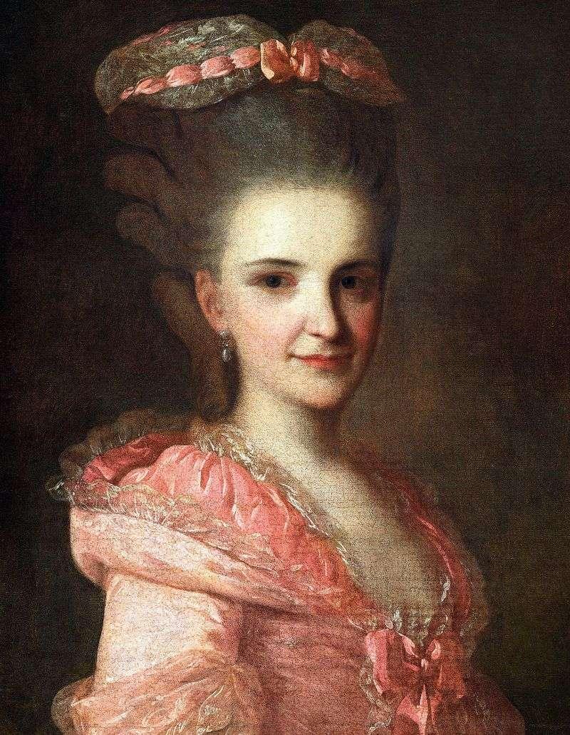 Портрет невідомої в рожевій сукні   Федір Рокотов