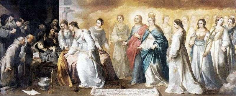 Смерть святої Клари   Бартоломе Естебан Мурільйо