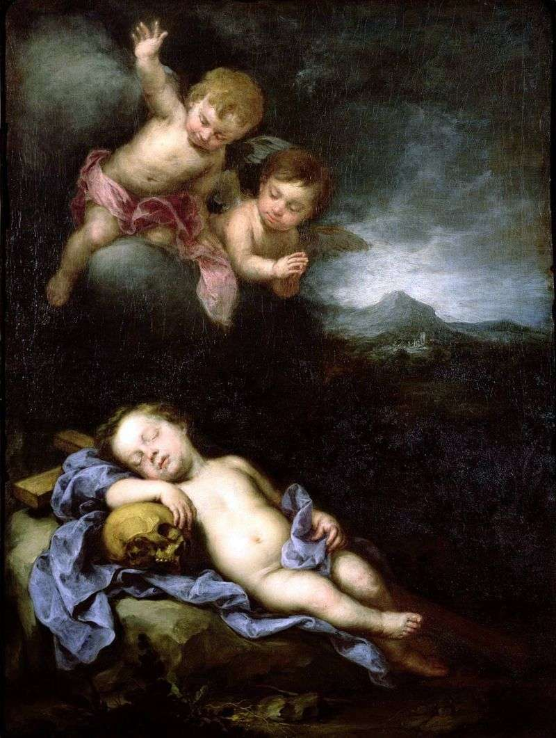 Сплячий Немовля Христос з ангелами   Бартоломе Естебан Мурільйо