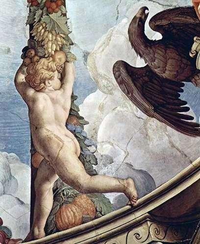 Гірлянда з ангелами (фреска)   Аньоло Бронзіно