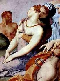 Поклоніння хресту з бронзовою змією (фреска)   Аньоло Бронзіно