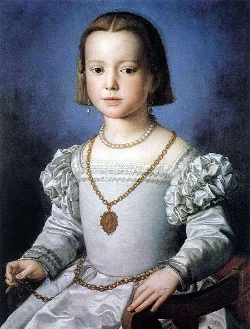 Портрет Біа Медічі, дочки Козімо I   Аньоло Бронзіно